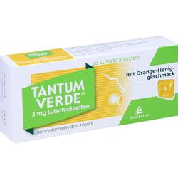 TANTUM VERDE 3 mg Lutschtabl.m.Orange-Honiggeschm.